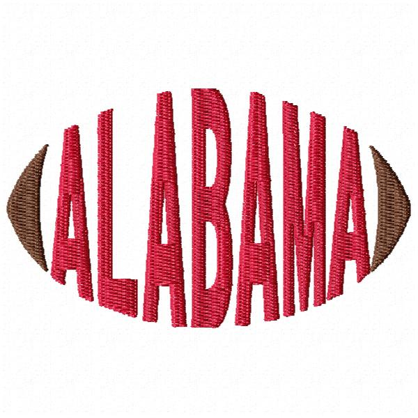 Alabama Football Word Cap Design