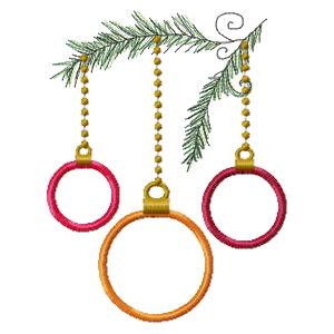 Applique Hanging Ornaments