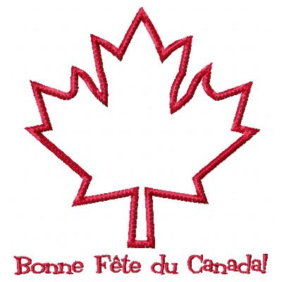 Canada Day Applique