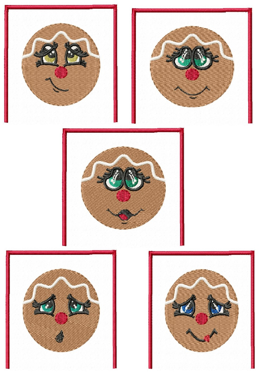 Festive Gingerbread Aprons - Set 4