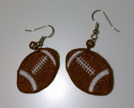 FSL Football Earrings