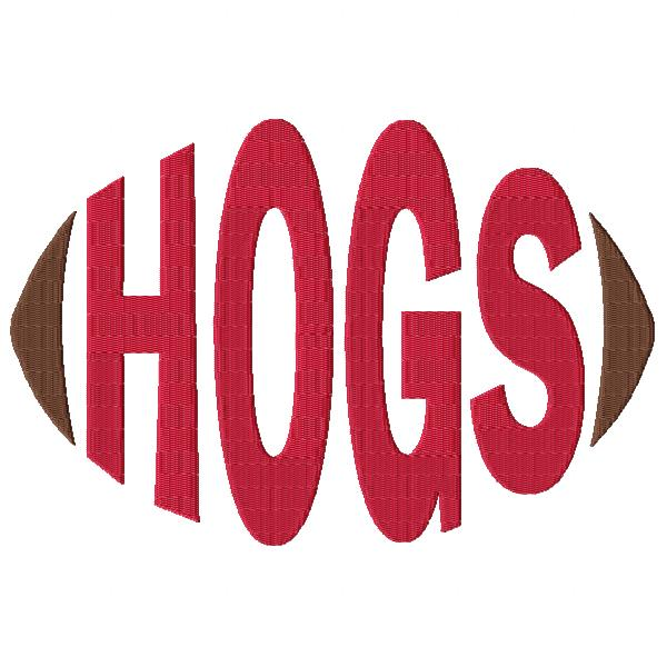 Hogs Football Word