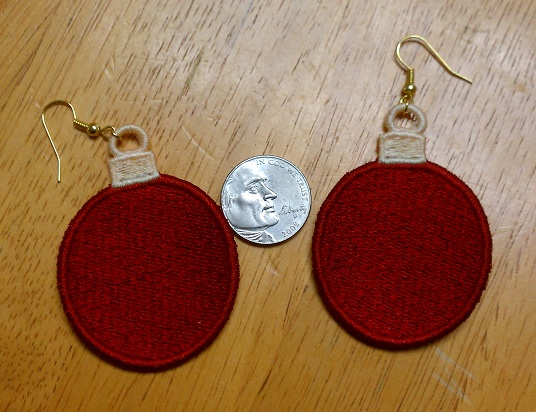 FSL Christmas Ornament Earrings 1