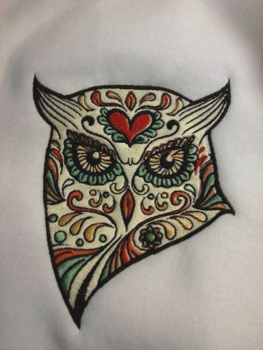 Gallery For gt Sugar Skull Owl Outline