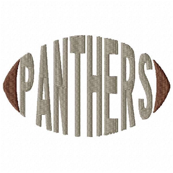 Panthers Football Word - Cap Size