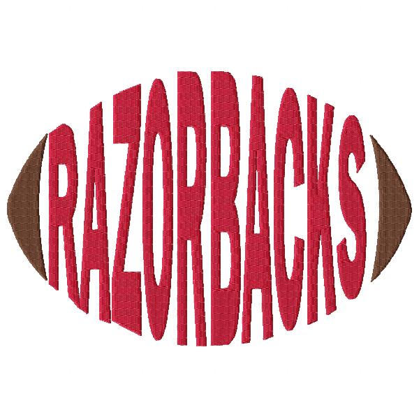 Razorbacks Football Word