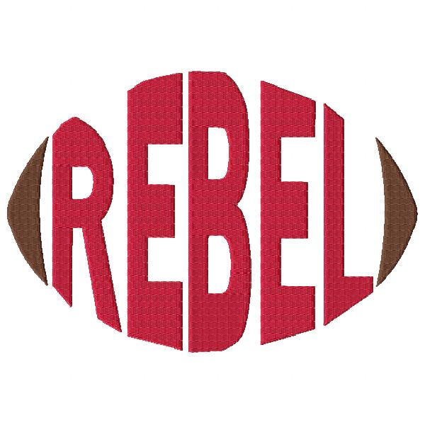 Rebel Football Word