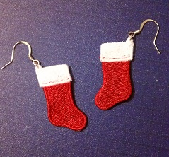 FSL Christmas Stocking Earrings
