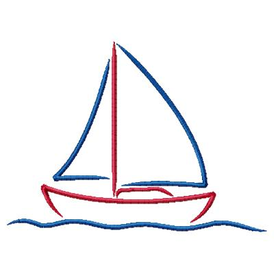 Stylized Sailboat