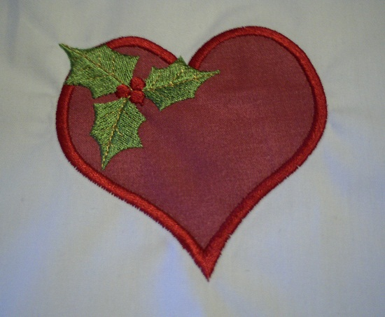 Christmas Heart Applique