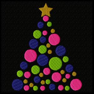 Dotted Christmas Tree - Fill