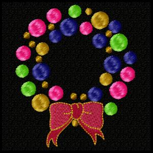 Dotted Christmas Wreath