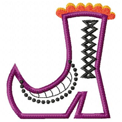 Halloween Boot 3 Applique