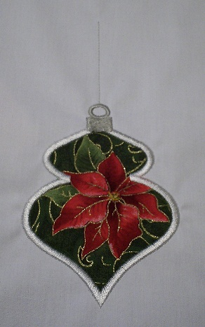 Applique Christmas Ornament 1