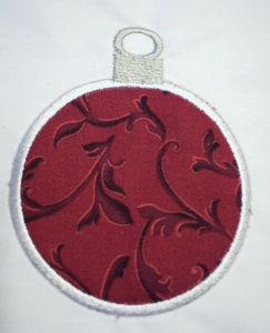Applique Christmas Ornament 3A