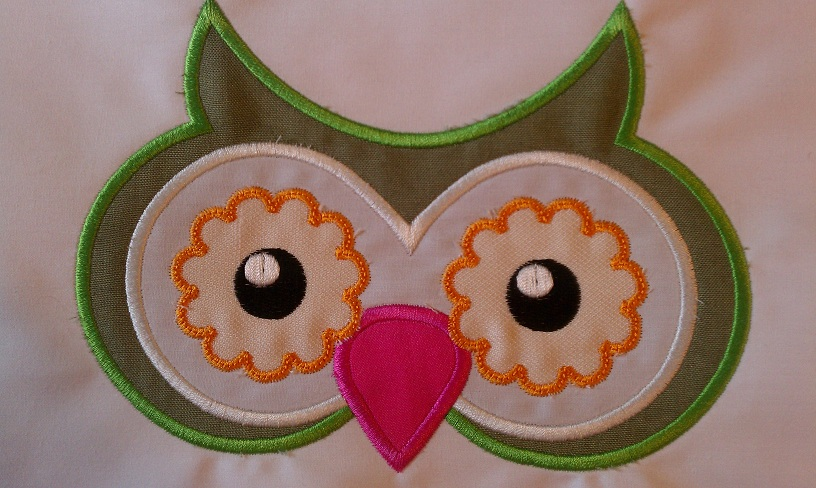 Owl Embroidery Design Applique