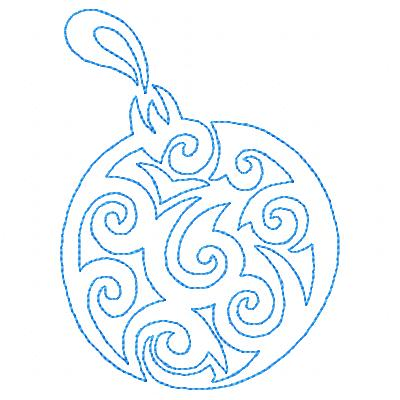 Christmas Ornaments Lines 1
