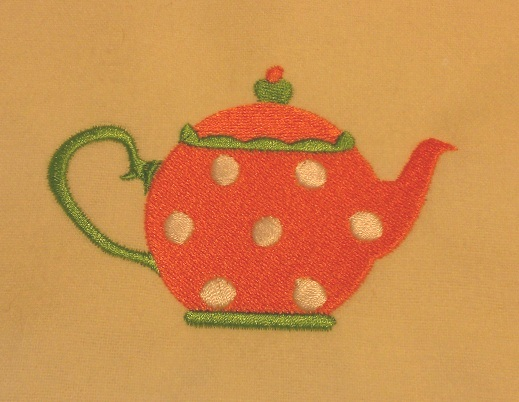 Teapot Machine Embroidery Design