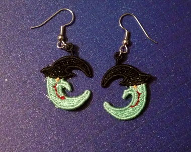 Witch Head Earrings