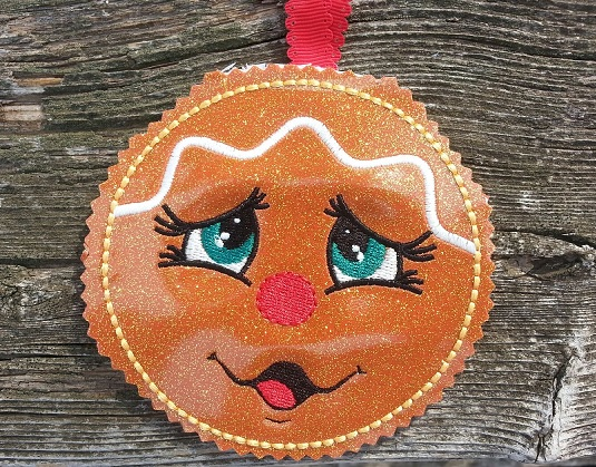 Gingerbread Face Ornaments